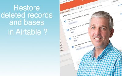 Tutorial – Restore deleted bases and records in Airtable