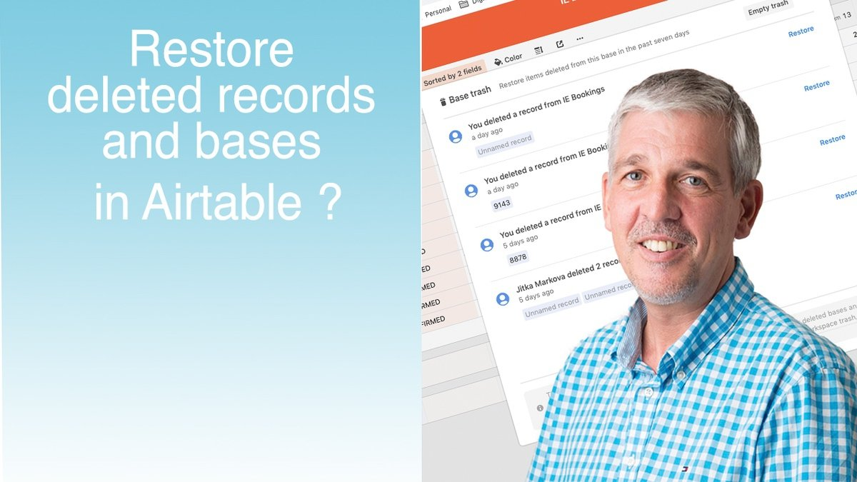 Restore deleted bases and records in Airtable