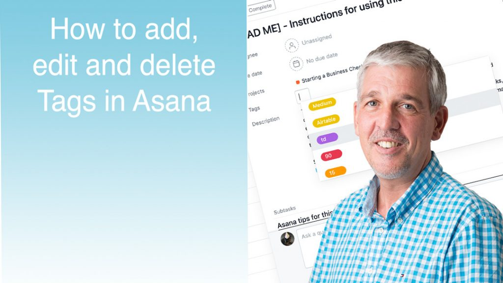 add edit delete tags in asana